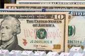 American dollars on a computer keyboard. The concept of electronic payments — Stockfoto