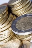 European money in coins — Stock Photo