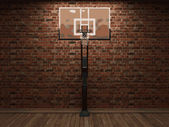 Vector basketball and brick background — Stock Vector