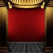 Vector bronze columns and wallpaper — Vector de stock