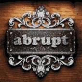 Abrupt vector metal word on wood — Stock Vector