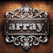 Array vector metal word on wood — Stock Vector