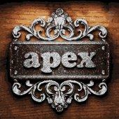 Apex vector metal word on wood — Cтоковый вектор