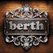 Berth vector metal word on wood — Stock Vector