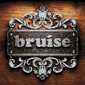 Bruise vector metal word on wood — Stock Vector