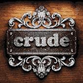 Crude vector metal word on wood — Stock Vector