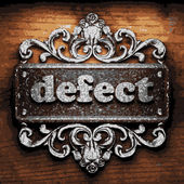 Defect vector metal word on wood — Vector de stock