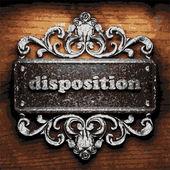 Disposition vector metal word on wood — Stock Vector