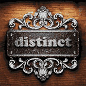 Distinct vector metal word on wood — Stock Vector