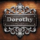 Dorothy vector metal word on wood — Vetor de Stock