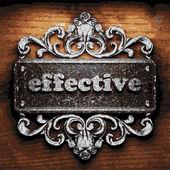 Effective vector metal word on wood — Stock Vector