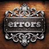Errors vector metal word on wood — Wektor stockowy