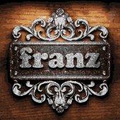 Franz vector metal word on wood — Stock Vector