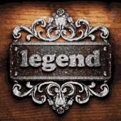 Legend vector metal word on wood — Stock Vector