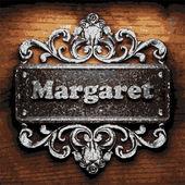 Margaret vector metal word on wood — Vecteur