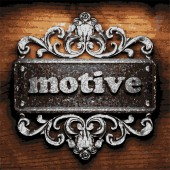 Motive vector metal word on wood — Stock Vector