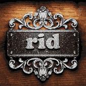 Rid vector metal word on wood — Stock Vector