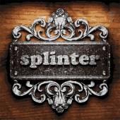 Splinter vector metal word on wood — Stock Vector