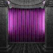 Vector stone columns and wallpaper — Stock Vector