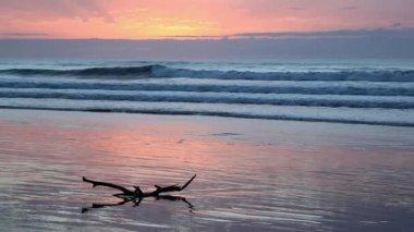 Seascape at sunrise — Stock Video