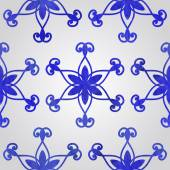 Pattern with Watercolor Snowflakes — Stockvector
