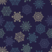 Seamless Pattern with white snowflakes — Stock Vector
