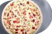 Raw Swedish cake with rhubarb — Fotografia Stock