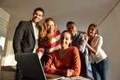 Business people or team on meeting — Stock Photo
