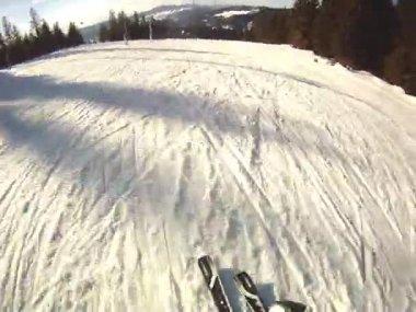 Ski sport man — Wideo stockowe
