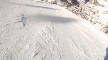 Ski sport man — Stock Video