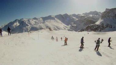 Ski sport man — Stockvideo