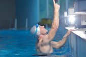 Man swimmer athlete — Stockfoto