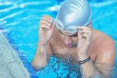 Swimmer athlete — Stock Photo