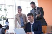 Business man with his team at the office — Stock Photo