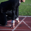Business man ready to sprint — Stock Photo #63816849