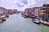 Venice Italy view with gondolas — Stock Photo