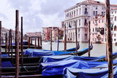Venice Italy view with gondolas — Fotografia Stock