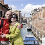 Happy couple in venice — Stock Photo #66917763