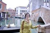 Beautiful woman in Venice — Stock Photo