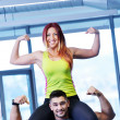 Young couple at the gym — Stock Photo #67029715