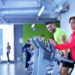 Young man and woman working out — Stock Photo #67546709