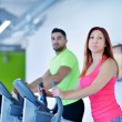 Young man and woman working out — Stock Photo #67548073