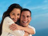 Happy young romantic couple — Stock Photo