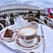 Cup of cappuccino outdoors — Stock Photo #70352561
