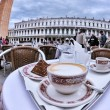 Cup of cappuccino outdoors — Stock Photo #70352643