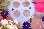 Machine gears, teamwork — Stock Photo