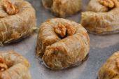 Turkish baklava dessert — Stock Photo