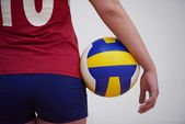 Woman with volleyball ball — Stock Photo