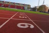 Athletic track at the stadium — Fotografia Stock
