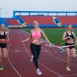 Female Runners Finishing Race Together — Stock Photo #73892077